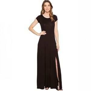 MICHEAL Michael Kors Cap Sleeve Slit Maxi Dress